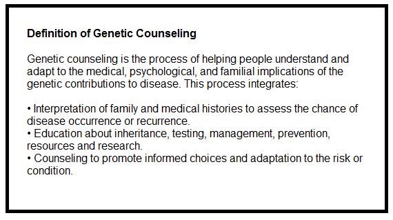 SCOPE OF PRACTICE - Board of Genetic Counseling